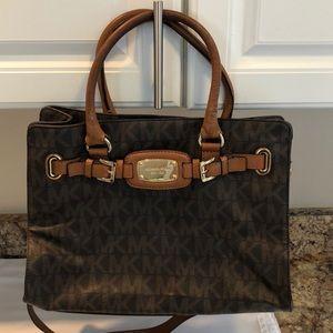 Michael Kors Hamilton leather tote bag
